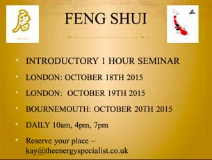 Feng Shui introduction session dates