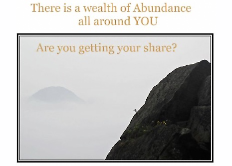Chinese mountain side captioned wealth of abundance